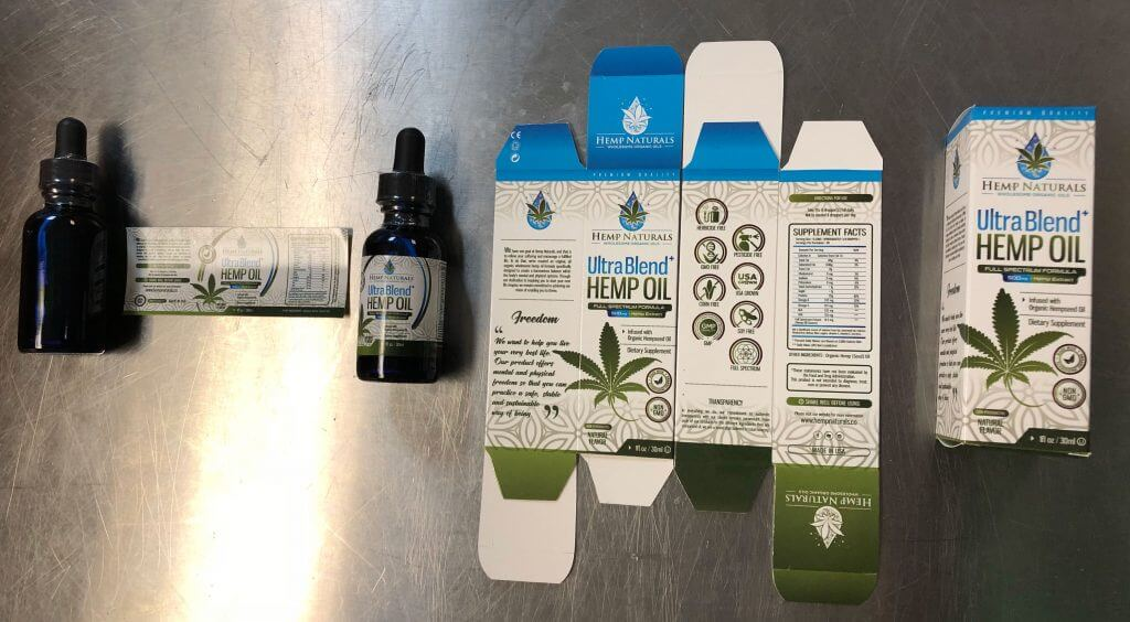 CBD Oil Package Kitting